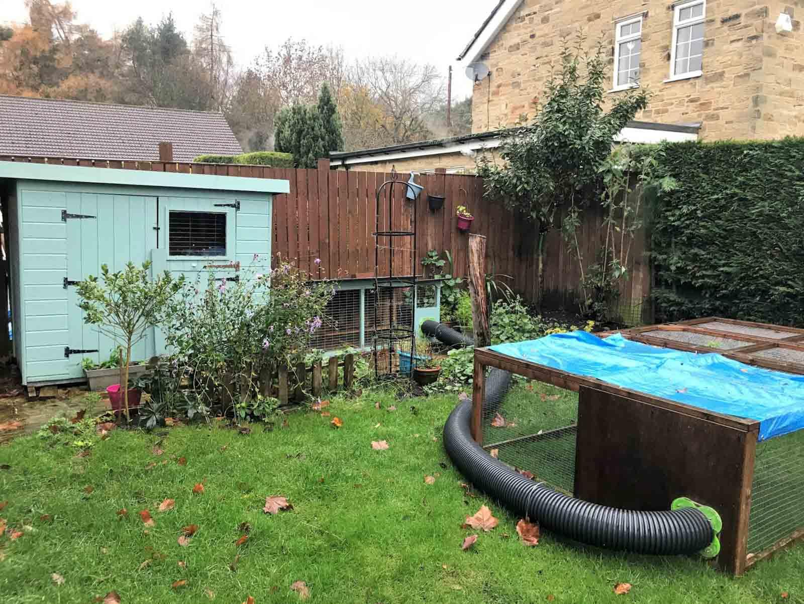 Idée d'installation abri et enclos pour lapin