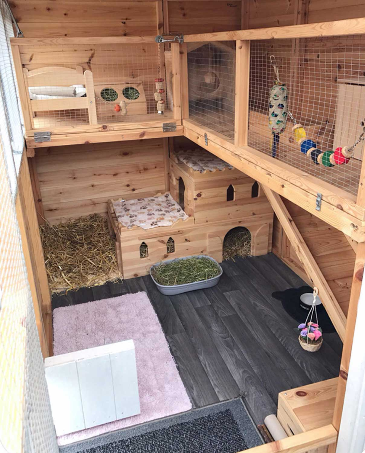 Intérieur abri pour lapin - Compte Instagram @Bunny_and_Henry_and_Moo_Moo