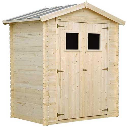 petite cabane de jardin en bois pour lapin